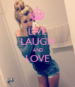 LIVE LAUGH AND LOVE  - Personalised Poster large