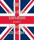 london london london london londen - Personalised Poster large