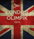 LONDON OLIMPIK 2012   - Personalised Poster large