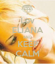 Lov ELIANA AND KEEP CALM - Personalised Poster large
