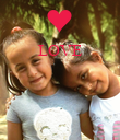 LOVE     - Personalised Poster large
