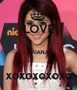 LOVE  ARIANA  xoxoxoxoxo - Personalised Poster large
