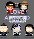 LOVE AVENGED SEVENFOLD OR DIE - Personalised Poster large