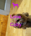 Love   = Coby  - Personalised Poster large