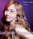 LOVE  JESSICA FOREVER SONE Gorjess Spazzer - Personalised Poster large