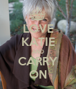 LOVE KATIE AND CARRY ON - Personalised Poster large