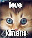 love  kittens - Personalised Poster large