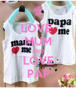 LOVE  MUM AND LOVE PAP - Personalised Poster large
