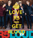 LOVE  R5 AND GET #LOUD - Personalised Poster large