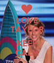 LOVE TAYLOR TO KEEP CALM - Personalised Poster large