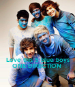 Love this 5 blue boys ONE DIRECTION  - Personalised Poster large