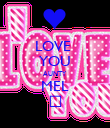 LOVE  YOU AUNTY MEL ♡ - Personalised Poster large