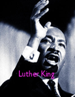 Luther King  - Personalised Poster large
