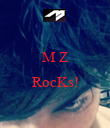 M Z  RocKs!  - Personalised Poster large