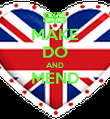 MAKE DO AND MEND  - Personalised Poster large