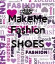 MakeMe Fashion  SHOES  - Personalised Poster large