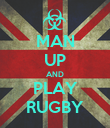 MAN UP AND PLAY RUGBY - Personalised Poster large