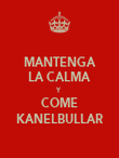 MANTENGA LA CALMA Y COME KANELBULLAR - Personalised Poster large