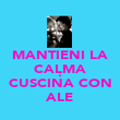 MANTIENI LA CALMA E CUSCINA CON ALE - Personalised Poster large