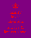 marley loves chloe & caitlin always & forever xoxo  - Personalised Poster large