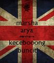 marsha arya marsharya kecebooong buncit - Personalised Poster large