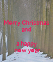 Merry Christmas and   a happy   new year - Personalised Poster large