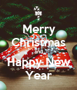 Merry Christmas and Happy New Year - Personalised Poster large