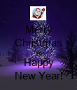 Merry Christmas AND Happy New Year! - Personalised Poster large