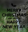 MERRY CHRISTMAS AND HAVE A HAPPY NEW YEAR - Personalised Poster large