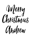 Merry Christmas Andrew - Personalised Poster large