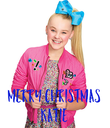 MERRY CHRISTMAS KATIE - Personalised Poster large