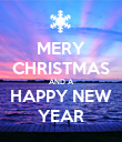 MERY CHRISTMAS AND A HAPPY NEW YEAR - Personalised Poster large