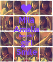Mila Amalia Baeutiful girl Smile - Personalised Poster large
