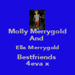 Molly Merrygold And  Ella Merrygold Bestfriends  4eva x - Personalised Poster large