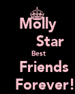 Molly       Star  Best     Friends       Forever!! - Personalised Poster large