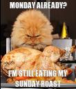 MONDAY ALREADY? I'M STILL EATING MY SUNDAY ROAST - Personalised Poster large
