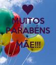 MUITOS PARABÉNS  MÃE!!!  - Personalised Poster large