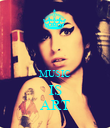 MUSIC IS ART - Personalised Poster large