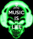 MUSIC IS MY LIFE  - Personalised Poster large