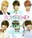 MY 6 BOY FRIENDS FOR CINDY - Personalised Poster large