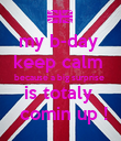 my b-day  keep calm  because a big surprise  is totaly   comin up ! - Personalised Poster large