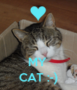 MY  CAT :-) - Personalised Poster large