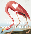 MY CHEEKS WERE REFLECTING THE LONGEST WAVELENGTHS - Personalised Poster large