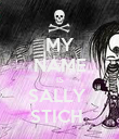 MY NAME IS SALLY  STICH  - Personalised Poster large