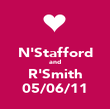 N'Stafford and R'Smith 05/06/11 - Personalised Poster large