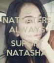 NATCATERS ALWAYS LOVE SUPORT NATASHA - Personalised Poster large