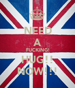 NEED A FUCKING! HUG!! NOW!!! - Personalised Poster large