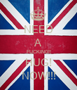 NEED A FUCKING!! HUG! NOW!!! - Personalised Poster large