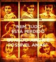 """""""NEM TUDO ESTÁ PERDIDO Anne Frank QUANDO AINDA É POSSIÍVEL AMAR"""" - Personalised Poster large"""