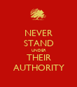 NEVER STAND UNDER THEIR AUTHORITY - Personalised Poster large
